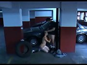 Daring young couple have sex in public multi storey car park cctv cam
