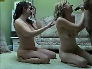 Black on white fuck-a-thon satisfying two white bitches huge black cock
