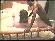 Cuck husband filming sexy wifey breeding with two black men and ass-fuck