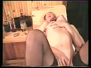 Alina in sauna enjoying threesome romp with her husband and his friend